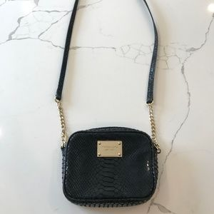 Michael Kors Crossbody - Small, Black, Snakeskin
